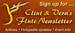 Sign up for Clint & Vera's Flute Newsletter
